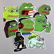 Meme Kawaii - pepe sad frog stickers 8 pcs meme kawaii stickerbomb skateboard