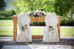 wedding chair covers wedding chair covers royalty free stock images image 1984019