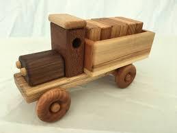 wooden truck handmade wooden toy cargo truck w plain blocks