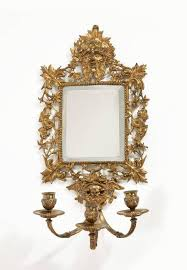Mirror Sconce Pair Of 19th Century Brass Mirror Sconces For Sale At 1stdibs
