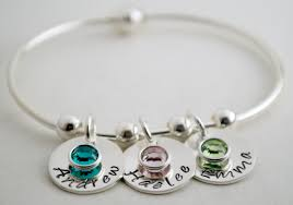name charm bracelet buy a made personalized bangle bracelet with name charms and