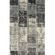 Woven Cotton Area Rugs Superior Patchwork Jacquard Loom Woven Cotton Area Rug Black