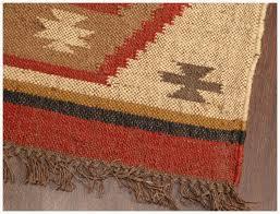 Dhurrie Runner Rugs Rugsville Southwestern Wool Jute Dhurrie Runner Rug 2 6 X 8