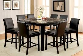 counter height dining room table sets buy furniture of america cm3823bk pt set gladstone ii black