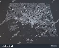 Satellite View Map Oslo Satellite View Map City Norway Stock Photo 359609225