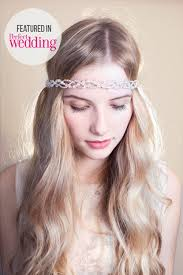 forehead bands clemency wedding forehead band from rosie willett designs