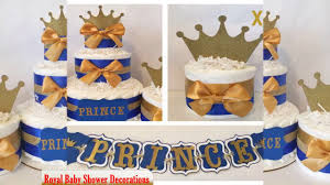 royal baby shower decorations youtube