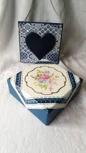 Wedding Wishes Box Jewelry Box Decoupage Box Wooden Jewelry Box Gold Ornament