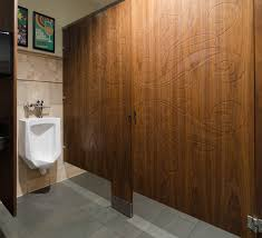 ironwood manufacturing veneer toilet partition and engraved