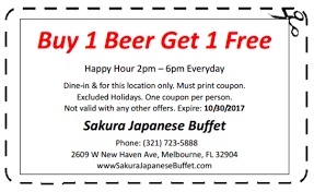 New China Buffet Coupons by Sakura Japanese Buffet Coupon 10 Off Melbourne Fl