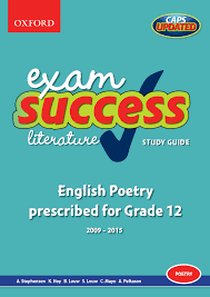 exam success literature study guide english poetry prescribed for