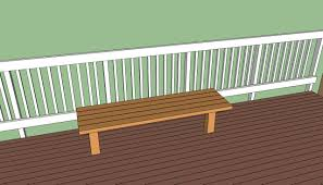 Deck Wood Bench Seat Plans by Deck Bench Plans Free Howtospecialist How To Build Step By
