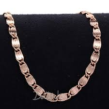 rose gold necklace womens images 4mm white rose gold filled gf snail link necklace womens mens jpg