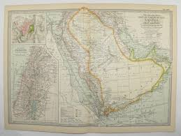 middle east map gulf of oman antique saudi arabia map aden yemen oman map gulf