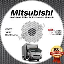 1990 1991 mitsubishi fuso fk fm service manual cd rom repair shop
