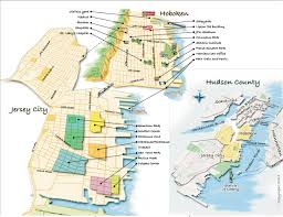 Dc Neighborhood Map Hoboken Neighborhood Map Hobokeni Com Hoboken Nj