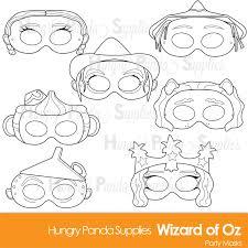 Scarecrow Mask Wizard Of Oz Printable Coloring Masks Dorothy Mask Scarecrow