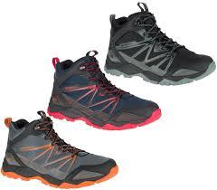 mens merrell capra rise mid waterproof hiking walking boots sizes