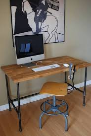 how to make a child s desk top popular galvanized pipe desk with regard to household plan how
