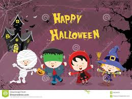 halloween kids images happy halloween kids stock vector image 58259226