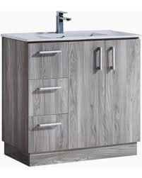 Bathroom Vanities Modern Style Savings On Infurniture Modern Style 35 Inch Grey Walnut