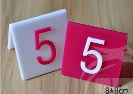 restaurant plastic desk cards seating cards table number cards