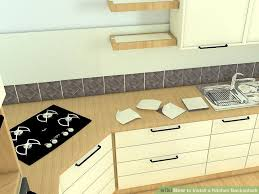 how to backsplash kitchen how to install a kitchen backsplash with pictures wikihow