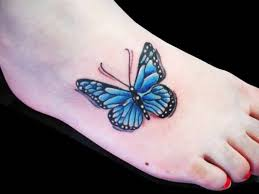 outstanding flying butterfly tattoo design for foot tattooshunter