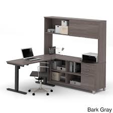 Bush Computer Desk With Hutch by Gray Desks U0026 Hutches Sears
