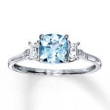 aquamarine diamond ring aquamarine ring with sapphires diamonds 10k white gold