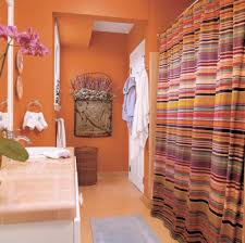 orange bathroom design ideas with small space design and orange