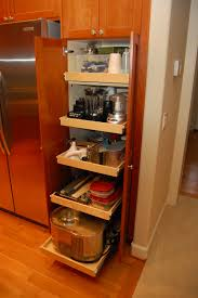 hidden kitchen cabinet decor with stainless steel frame on frosted