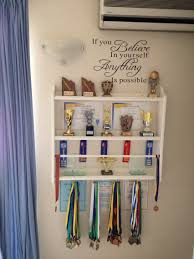 sports medal and trophy display successful projects pinterest