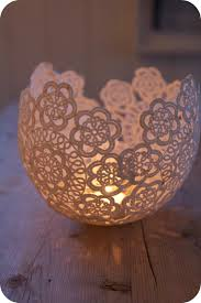 doily candle holders tea light candles dips and teas