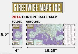 Streetwise Maps Streetwise Europe Rail Map Laminated Railroad Map Of Europe