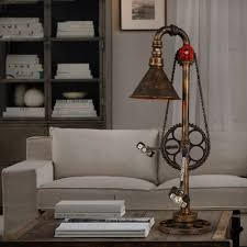 Accent Table Lamp Mottled Bronze 1 Light Cone Accent Table Lamp With Bicycle Design