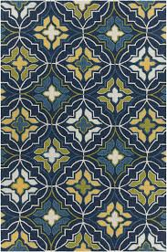 Cream And Blue Rug Terra Collection Hand Tufted Area Rug In Blue Green Yellow