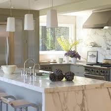 kitchen island without top marble waterfall kitchen island top design ideas