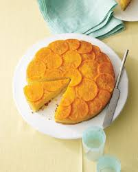 satsuma mandarin and vanilla upside down cake