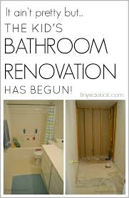 Diy Bathroom Remodel by The Renovation Has Begun