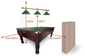 pool table light size room size calculator