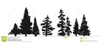 pine tree silhouette stock vector illustration of vector 5742925