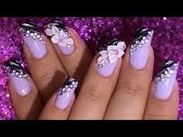 3 d rubber flower u0027s nail art design tutorial youtube