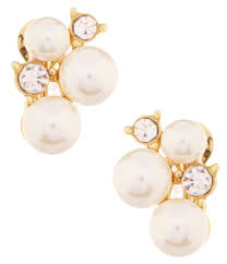 pearl clip on earrings women s clip on earrings dillards