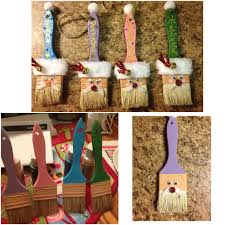 paint brush ornaments christmas pinterest ornament and craft