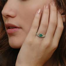emerald rings art deco emerald engagement ring