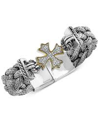woven bracelet with cross images Lyst effy collection balissima by effy diamond woven cross jpeg