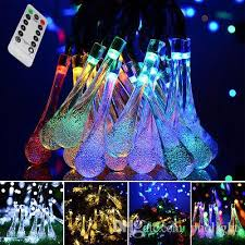 battery operated icicle christmas lights icicle battery powered string lights led water drop 30leds 8 modes