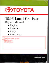 toyota land cruiser 1996 j80 workshop manual