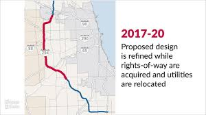 Chicago Tolls Map by 4 Billion Plan To Widen Tri State Won U0027t Require Tax Money Toll
